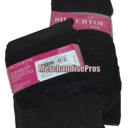 WOMEN/'S GOLD TOE MASSAGING SOLE BLACK DRESS SOCKS 6 PAIRS SHOE SIZE 6-9 NEW!