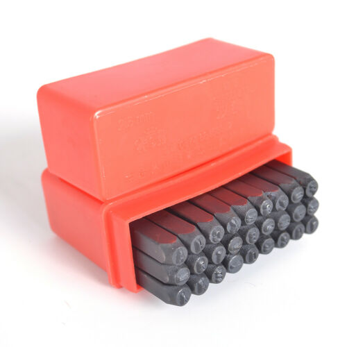 27x 2.5-6mm Steel Punch Alphabet Letter Stamp Set Metal Leather Tool Craft