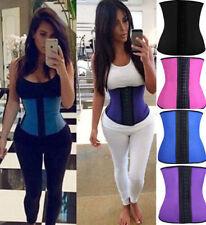 Women Latex Rubber Waist Trainer Cincher Underbust Corset Body Shaper Slimming