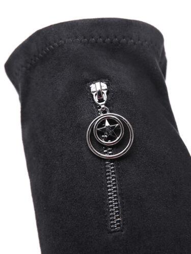 1720 Stivali Pelle Tacco Comodi 7 Stivaletti Cm Simil Nero Coscia Quadrato vq1dOTOwBx