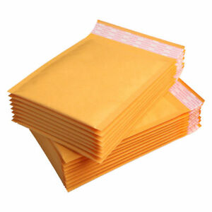 40X 160*200+40mm Kraft Bubble Bag Padded Envelopes Mailers Yellow Bags Australia