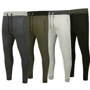 Men-039-s-Jogging-Bottom-Fleece-Slim-Fit-Joggers-Gym-Pants-With-Zip-Pockets