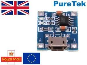 Micro-USB-TP4056-Li-Ion-Li-Po-Batterie-Aufladen-Board-Power-Charger-Modul-TE585
