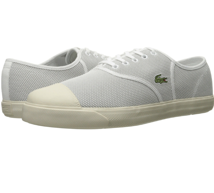 Men's Lacoste Rene shoes   color  White   Size  12