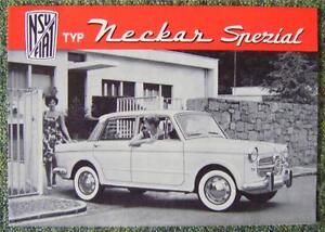 NSU-FIAT-NECKAR-1100-SPECIAL-SALES-BROCHURE-CIRCA-1957-GERMAN-TEXT
