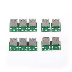 10X  Mini USB to DIP Adapter Converter for 2.54mm PCB Board DIY Power Supply NEW