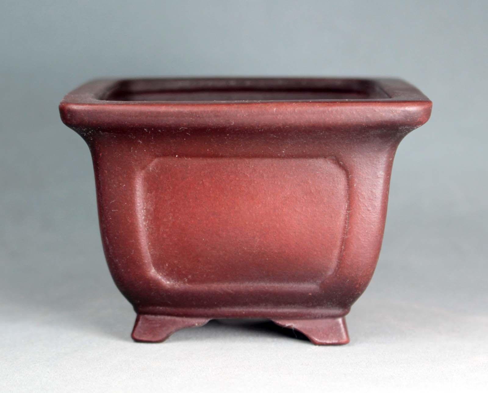 Tokoname Bonsai pot cuadrados por Bigei,  bigei 163, 9595H65mm