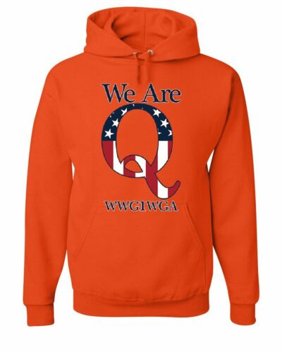We Are Q WWG1WGA Hoodie Stars and Stripes QANON Great Awakening Sweatshirt