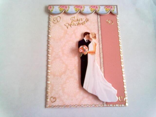 Grußkarte zur Hochzeit