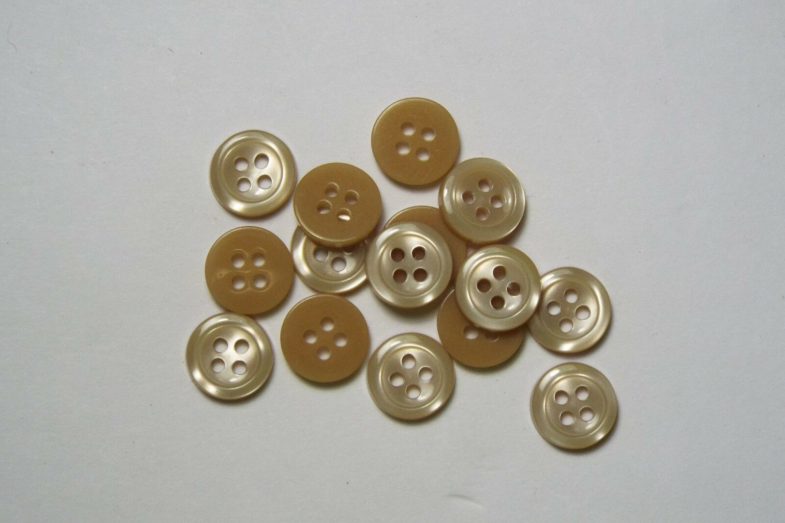 8pc 16mm Brown Cream Mock Bone Square Coat Knitwear Cardigan Baby Button 3169