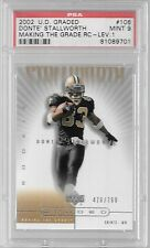 Donte Stallworth 2002 UP Graded Making the Grade RC-Level 1 PSA 9 478/700 $8