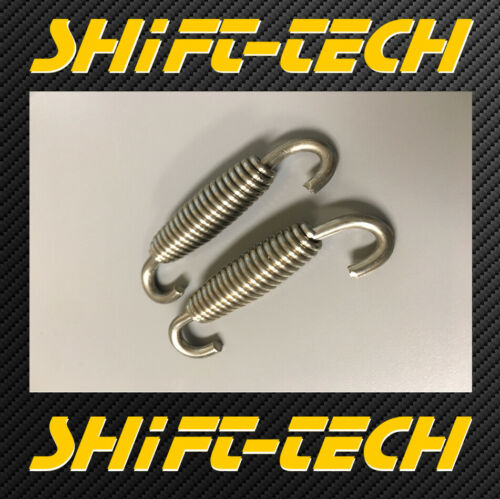 ST3130 QTY 2 OF 60MM SWIVEL EXHAUST Spring 60MM LONG STAINLESS MUFFLER