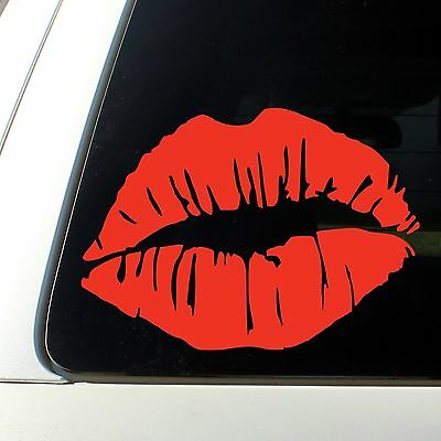 Red Lips Sticker Decal Lipstick Car Design Flower Wedding Pin Cute Mark Earings