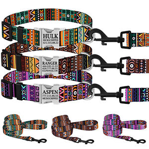 Personalized-Dog-Collar-Nylon-Custom-Engraved-Collars-for-Dogs-Puppy-S-M-L-Lead