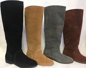 48db021500 Image is loading UGG-Australia-DALEY-Gracen-TALL-Suede-Equestrian-BOOTS-