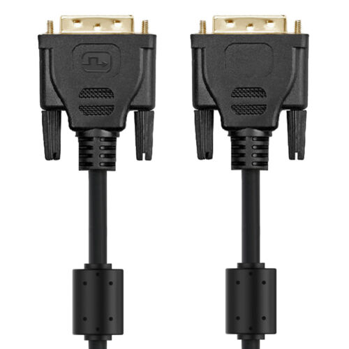 DVI-D 24+1 Male to Male Digital Video Cable with Ferrite Core Support 2560x1600p