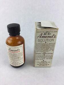 Vintage Pharmacy Medicine Amend Laboratories Amend's Solution Box