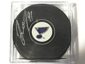 Vladimir-Tarasenko-91-Autographed-Signed-Puck-St-Louis-Blues-NHL-Hockey-Team
