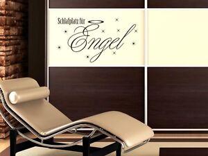 wandtattoo aufkleber design wanddeko f r schlafzimmer schlafplatz f r engel ebay. Black Bedroom Furniture Sets. Home Design Ideas