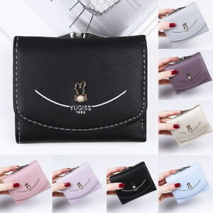GIFT-Ladies-Women-039-s-Mini-Wallet-Lock-ID-Card-Holder-Bag-Short-Coin-Purse