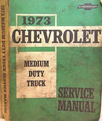 Chevrolet 1973 Series 50-65 Medium Duty Truck Original Shop Service  Manual
