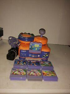 Vtech-V-Smile-PC-Pal-TV-Learning-System-Bundle-Console-Controller-amp-6-Games