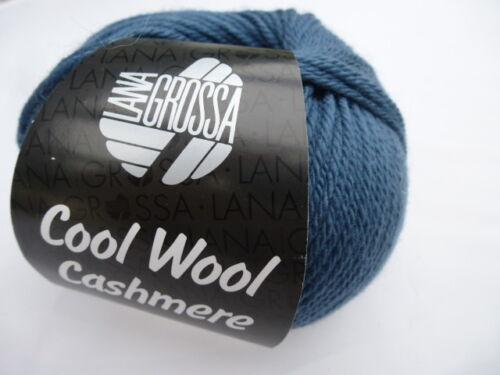 Cool Wool Cashmere 50g Lana Grossa  Merinowolle mit Cashmere Fb.11 = Taubenblau