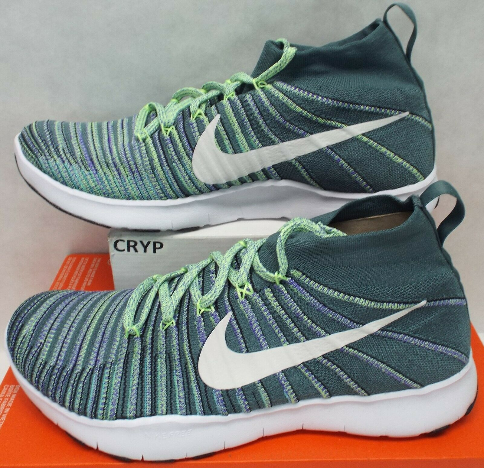 detailed look 7935c 7af38 Mens 12 NIKE Free Free Free Train Force Flyknit Hasta Hyper Grape shoes 150  833275-