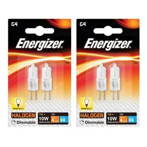 4-x-Energizer-G4-Eco-10W-Halogen-Capsule-Bulb-86-Lumens-12V-Lamp-Warm-White