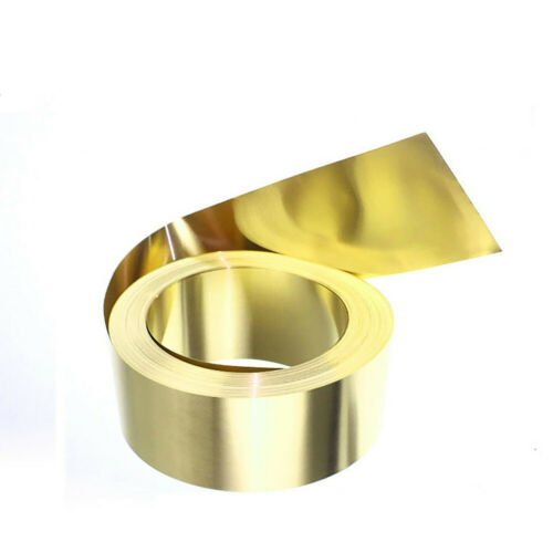 Thick 0.02 mm to 1 mm H59 Brass Thin Sheets Plate Panel Roll 100//200//300 mm Wide