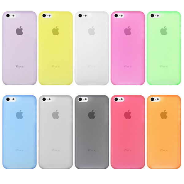 0.3mm Ultra Thin Slim Clear Matte Soft Back Case Cover Skin For Apple iPhone 5C