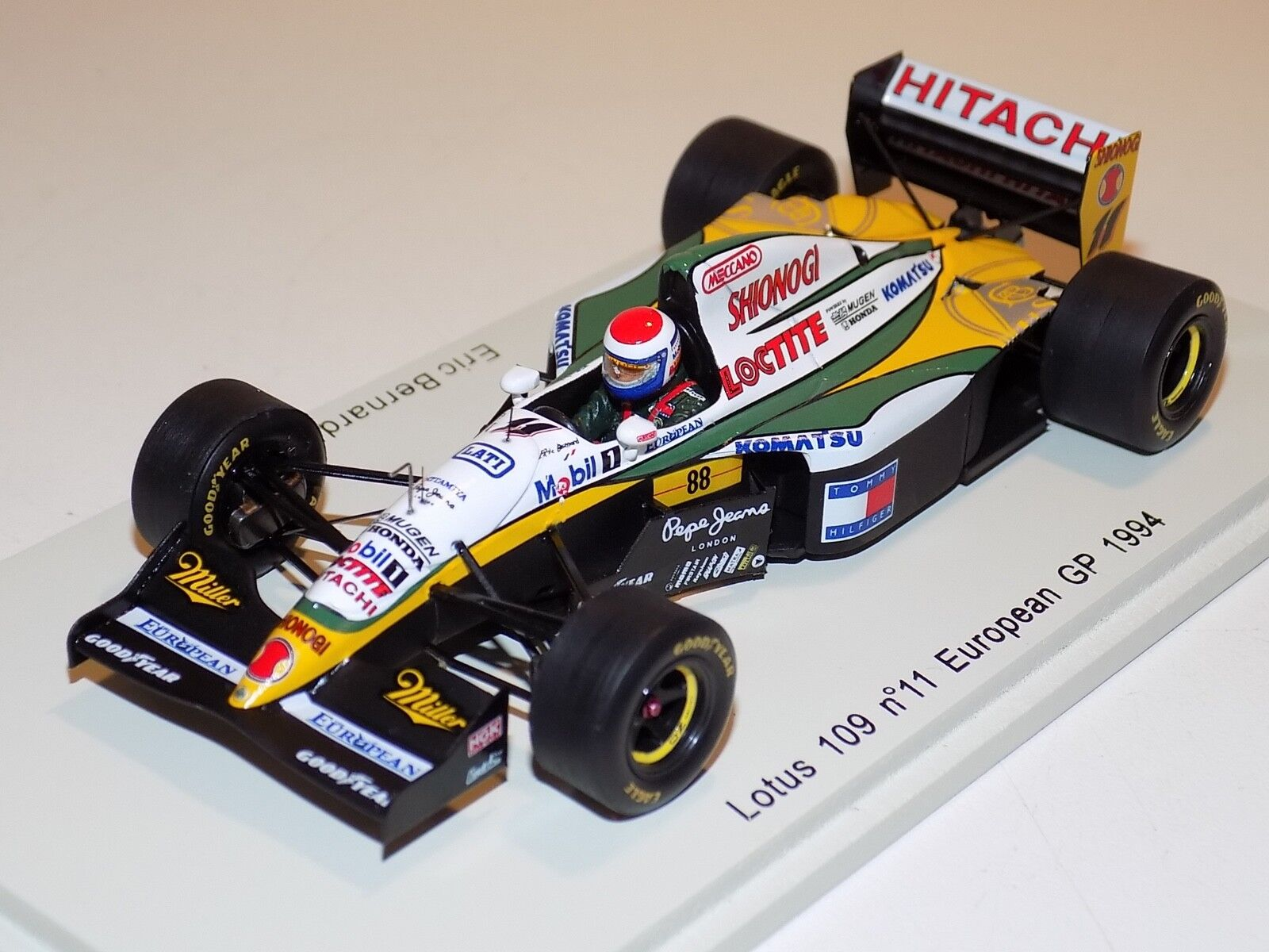 1/43 Spark F1 Lotus 109 car  11 European Grand Prix 1994 Eric Bernard S1678