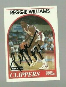 Reggie Williams 1989 Hoops auto autographed signed card Clippers