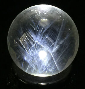 45mm-NATURAL-Clear-BLUE-034-Angel-Feathers-034-Crystal-SPHERE-Quartz-Specimen
