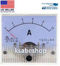 Professional Dc 0 10a Analog Amp Panel Ammeter Meter Gauge