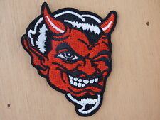 ECUSSON PATCH THERMOCOLLANT DIABLE corne diablo rockabilly biker trike rock