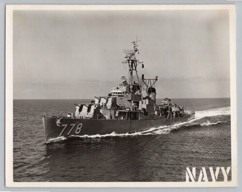 1950's Original USS MASSEY DESTROYER Vintage OFFICIAL US NAVY 8x10 Photo