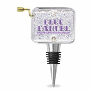 Blue Danube Melody Sparkle Mini Wind-Up Music Box 4.5 Inch Wine Stopper
