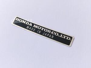 Image Is Loading HONDA MOTOR CO LTD Decal Plate Name Emblem
