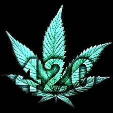 "2.5"" Marijuana STICKER.  Weed leaf 420. Looks great on bong, pipe or stash box."