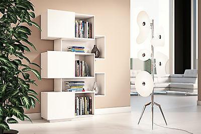 Libreria Di Design Con Ante Scorrevoli Ideale Per Soggiorno Studio O Ingresso Ebay