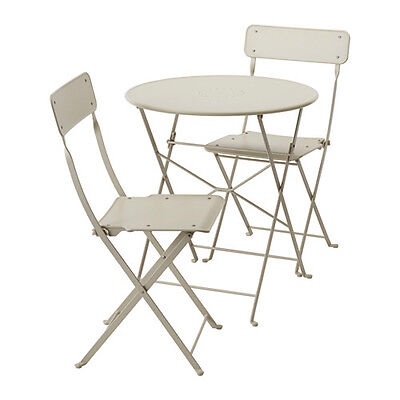 Phenomenal Ikea Saltholmen Outdoor Table And 2 Folding Chair Patio Balcony Bistro Beige Ebay Gmtry Best Dining Table And Chair Ideas Images Gmtryco