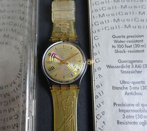 Swatch-MusiCall-SLM101-Spartito-Alarm-Watch-Music-by-J-M-Jarre-Neu-in-OVP