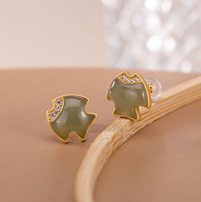 925 silver gold ring with green crystal