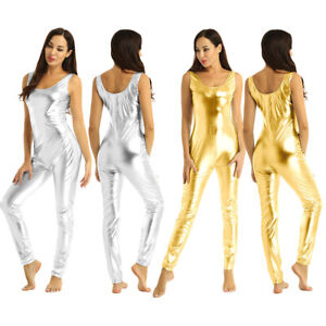 Bodycon Bodysuit Overall Ärmellos Jumpsuit Durchsichtig Unterwäsche Frauen