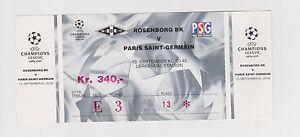 Sammler Used Ticket / Entrada Rosenborg BK - Paris Saint Germain 13-09-2000 CL - Zeist, Nederland - Staat: Tweedehands : Een object dat al eerder is gebruikt. Het object kan tekenen van cosmetische slijtage vertonen, maar werkt naar behoren. Dit object kan een showroommodel zijn of een object dat aan de verkoper geretourneerd is nadat - Zeist, Nederland