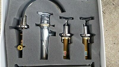 """Faucet Two Handle Wide Spread Faucet Chrome 6-24/"""" 6855A-01 3 Hole"""