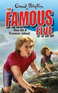 Five-on-a-Treasure-Island-Famous-Five-by-Enid-Blyton-Good-Book-Paperback-Fa
