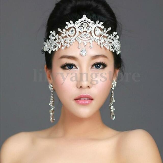 Buy Wedding Silver Bridal Tiara Rhinestone Crystal Crown Pageant ... fb0b5352d32