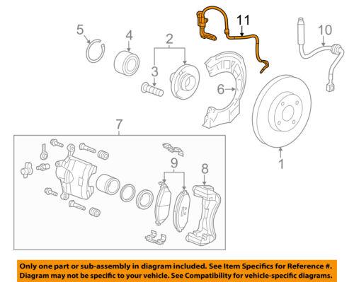 Chevrolet GM OEM 13-15 Spark ABS Anti-lock Brakes-Front Speed Sensor 95937220